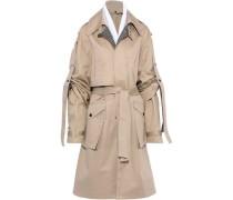 Gathered Cotton-garbardine Trench Coat Neutral