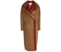 Two-tone alpaca and wool-blend coat