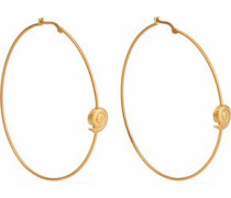 Gold-tone hoop earrings
