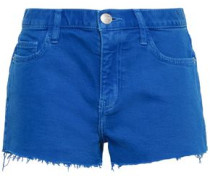 Frayed Denim Shorts Cobalt Blue  5