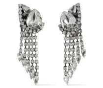 Kora Silver-tone Crystal Clip Earrings Silver Size --