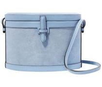 Suede And Leather Shoulder Bag Light Blue Size --