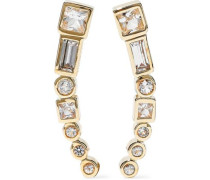 Gold-tone crystal earrings