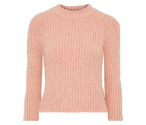 Olla Ribbed Bouclé-knit Sweater Antique Rose