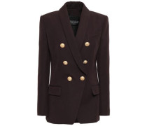 Double-breasted Wool-twill Blazer Chocolate