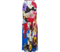 Floral-print Stretch-crepe Maxi Skirt Multicolor
