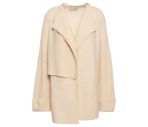 Ribbed-knit Wool And Cashmere-blend Cardigan Beige