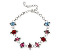 Odell Oxidized Silver Crystal Choker Multicolor Size --