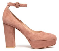 Sherry Velvet Platform Pumps Antique Rose