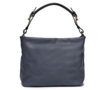 Woman Maxi Strap Pebbled-leather Shoulder Bag Storm Blue