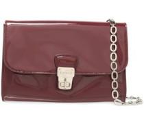 Patent-leather Shoulder Bag Grape Size --