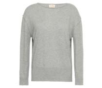 Brilliant Pebble Mélange Cotton And Silk-blend Sweater Light Gray