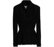Cotton-blend Tweed Jacket Black Size 14