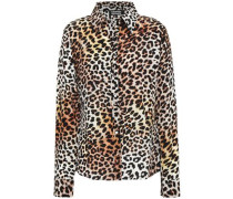 Leopard-print Silk Crepe De Chine Shirt Animal Print