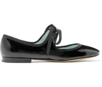 Lisa Mary Jane patent-leather ballet flats