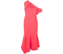 Juniper One-shoulder Stretch-crepe Midi Dress Bright Pink