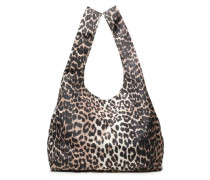 Leopard-print Shell Tote Animal Print Size --