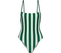 The Chelsea Striped Swimsuit Emerald