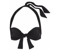Sweetheart Knotted Halterneck Bikini Top Black