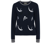 Grace Intarsia Merino Wool Sweater Midnight Blue