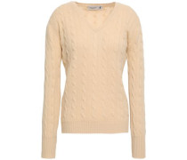 Cable-knit Cashmere Sweater Beige