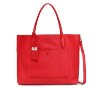 Textured-leather Tote Red Size --