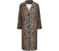 Camberwell Leopard-print Linen And Cotton-blend Coat Animal Print