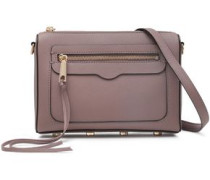 Woman Textured-leather Shoulder Bag Taupe