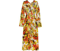 Floral-print Silk-georgette Midi Dress Multicolor