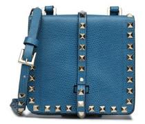 Rockstud lizard-effect leather shoulder bag