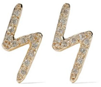 14-karat Gold Diamond Earrings Gold Size --