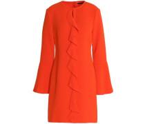 Monner Ruffled Stretch-crepe Mini Dress Coral
