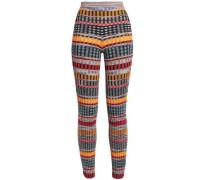 Ribbed-knit wool-blend slim-leg pants