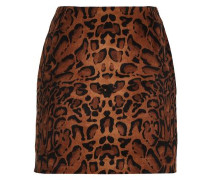 Leopard-print Velvet Mini Skirt Animal Print