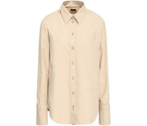 Rem Cotton-poplin Shirt Beige