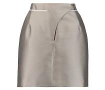 Grosgrain-trimmed mikado mini skirt