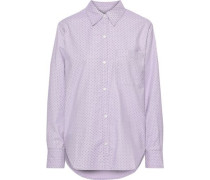 Woman The Neal Stretch Cotton-poplin Shirt Lilac