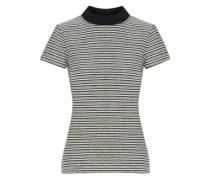 Striped Cotton-blend Bouclé T-shirt Stone
