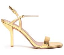 Metallic Leather Sandals Gold