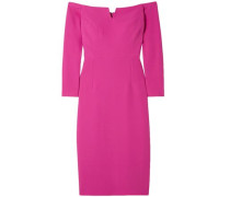 Terese Off-the-shoulder Crepe Dress Magenta