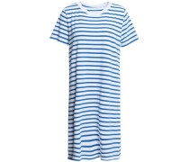 Striped Cotton-jersey Mini Dress White Size 0