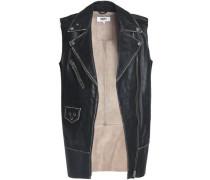 Studded leather biker vest