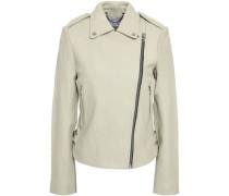 Leather Jacket Ecru
