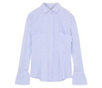 June striped cotton-poplin blouse