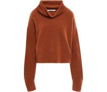 Brushed Wool-blend Turtleneck Sweater Tan
