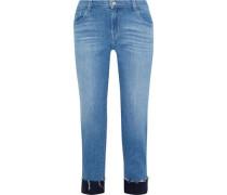 Sadey Cropped Mid-rise Slim-leg Jeans Mid Denim  3