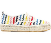 Alfie Rickrack-trimmed Canvas Espadrille Sneakers Ivory
