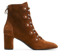 Suede Ankle Boots Brown
