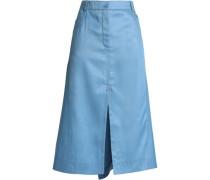 Asymmetric wool and silk-blend skirt