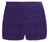Jacquard-knit shorts